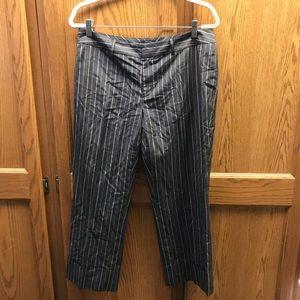 Banana Republic grey pinstripe Martin pants sz 10
